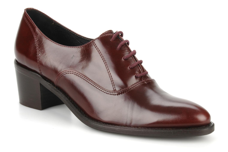 Chaussures à lacets Georgia Rose Daporo Bordeaux vue détail/paire
