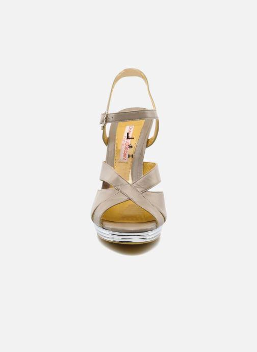 Sandales et nu-pieds Charles Jourdan Marilyne Gris vue portées chaussures