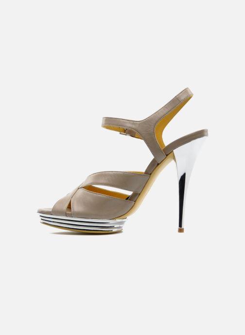 Sandales et nu-pieds Charles Jourdan Marilyne Gris vue face