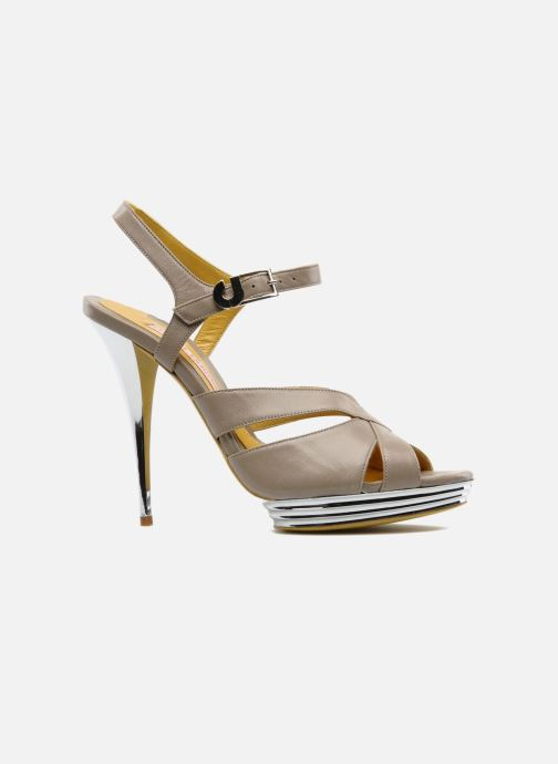 Sandales et nu-pieds Charles Jourdan Marilyne Gris vue derrière