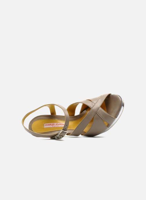 Sandales et nu-pieds Charles Jourdan Marilyne Gris vue gauche