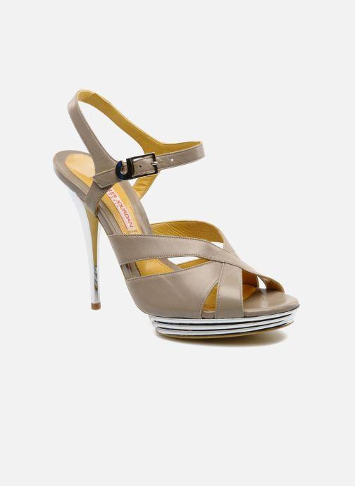 Sandales et nu-pieds Charles Jourdan Marilyne Gris vue détail/paire