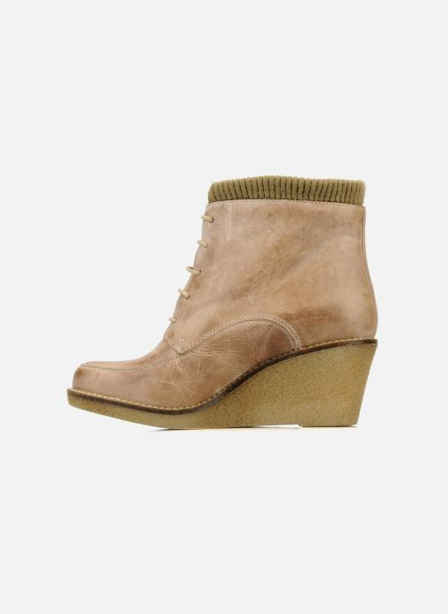 Bottines et boots Castaluna Mildred XL Beige vue face