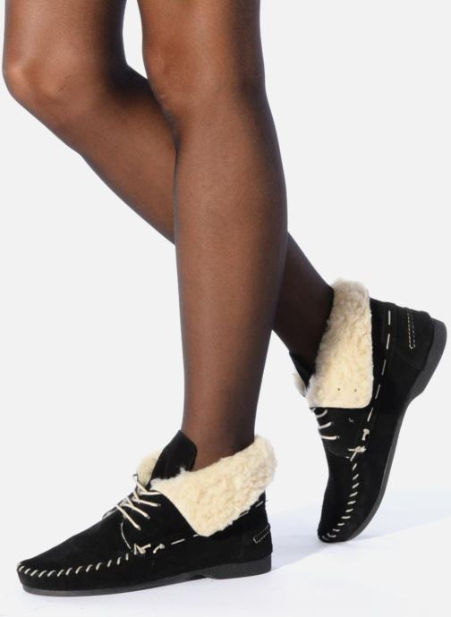 Lace-up shoes Jonak Babs Black view from underneath / model view