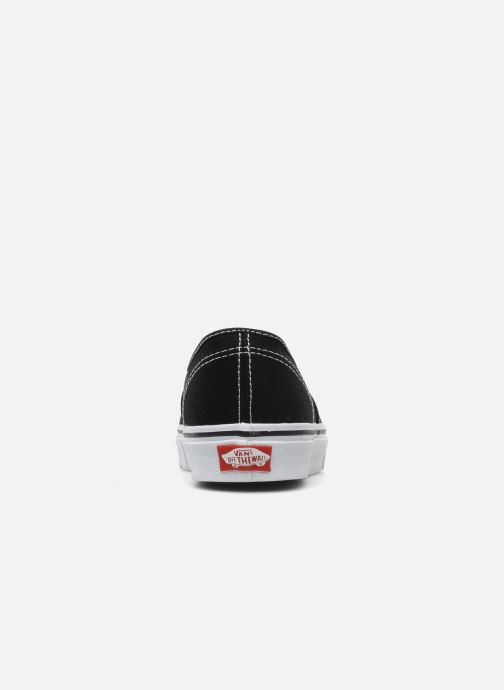 Deportivas Vans Authentic w Negro vista lateral derecha