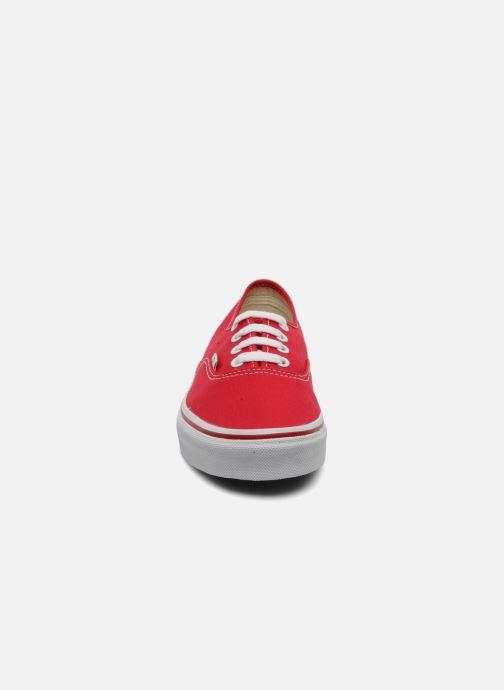 Sneaker Vans Authentic w rot schuhe getragen
