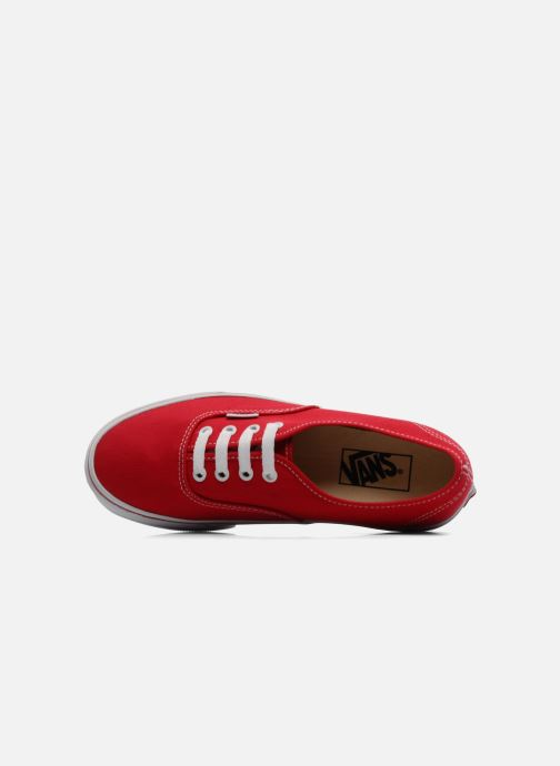 Baskets Vans Authentic w Rouge vue gauche