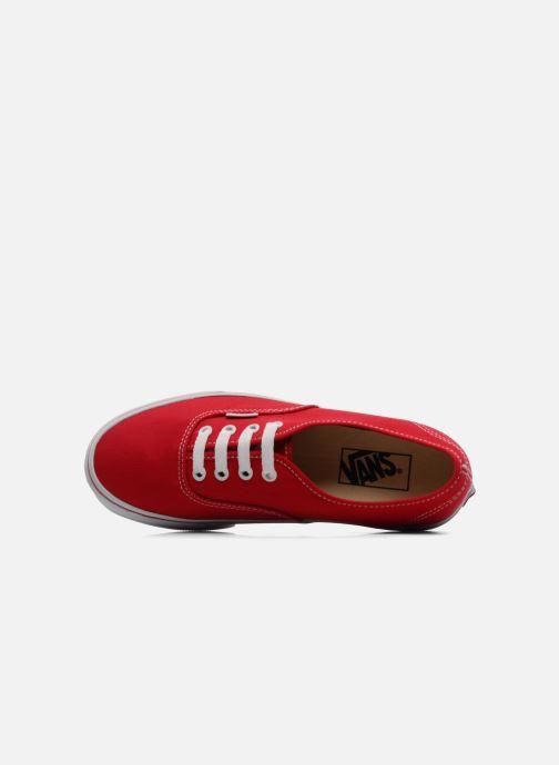 Baskets Vans Authentic w Rouge vue gauche
