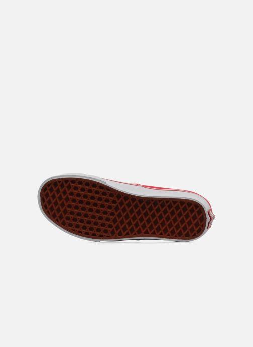 Baskets Vans Authentic w Rouge vue haut