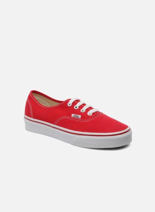 Baskets Vans Authentic w Rouge vue détail/paire