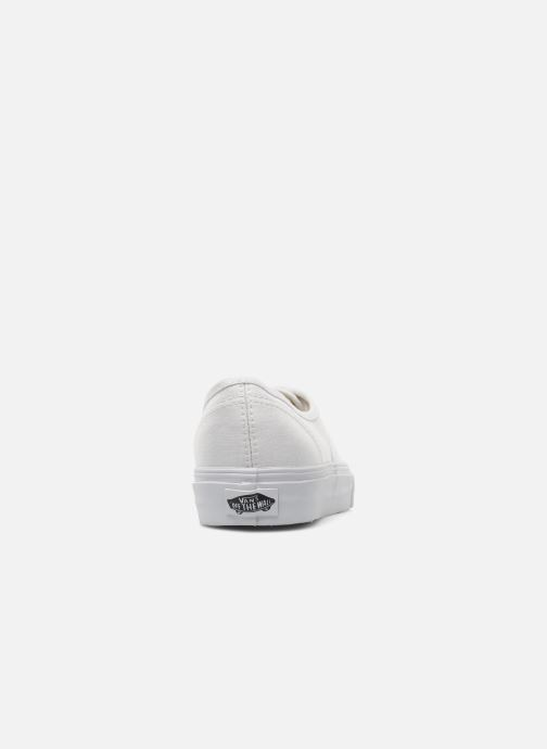 Deportivas Vans Authentic w Blanco vista lateral derecha