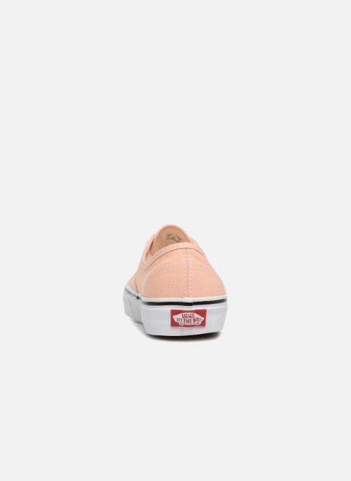 Baskets Vans Authentic w Orange vue droite