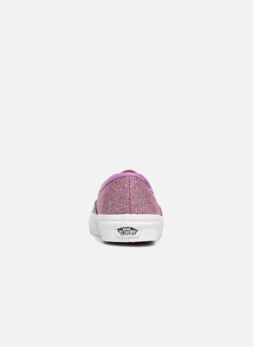 Sneaker Vans Authentic w rosa ansicht von rechts