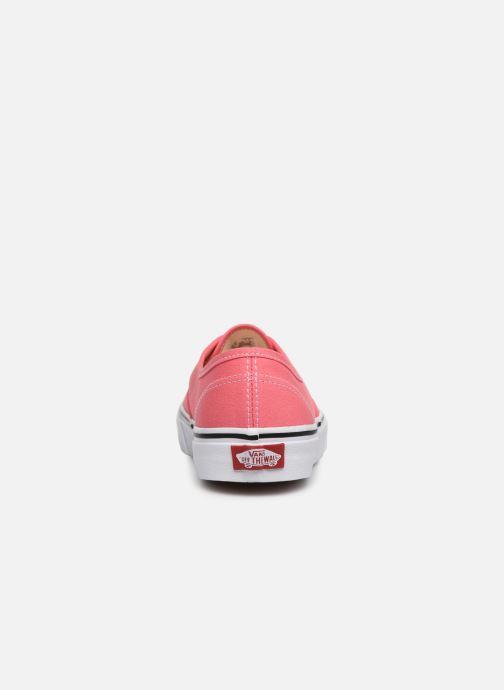 Baskets Vans Authentic w Rose vue droite