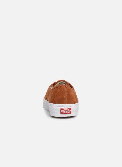 Baskets Vans Authentic w Marron vue droite