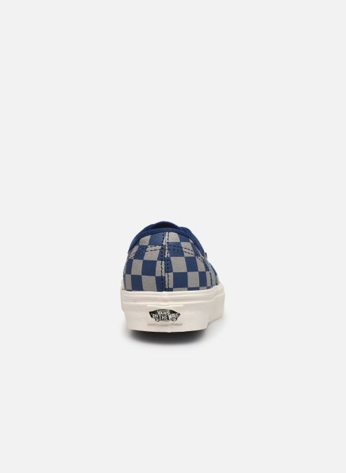 Deportivas Vans Authentic w Azul vista lateral derecha