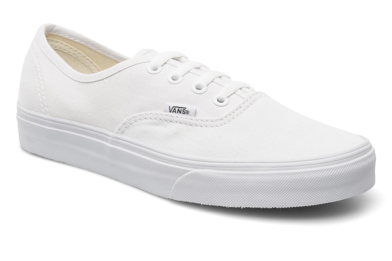 Baskets Vans Authentic w Blanc vue détail/paire