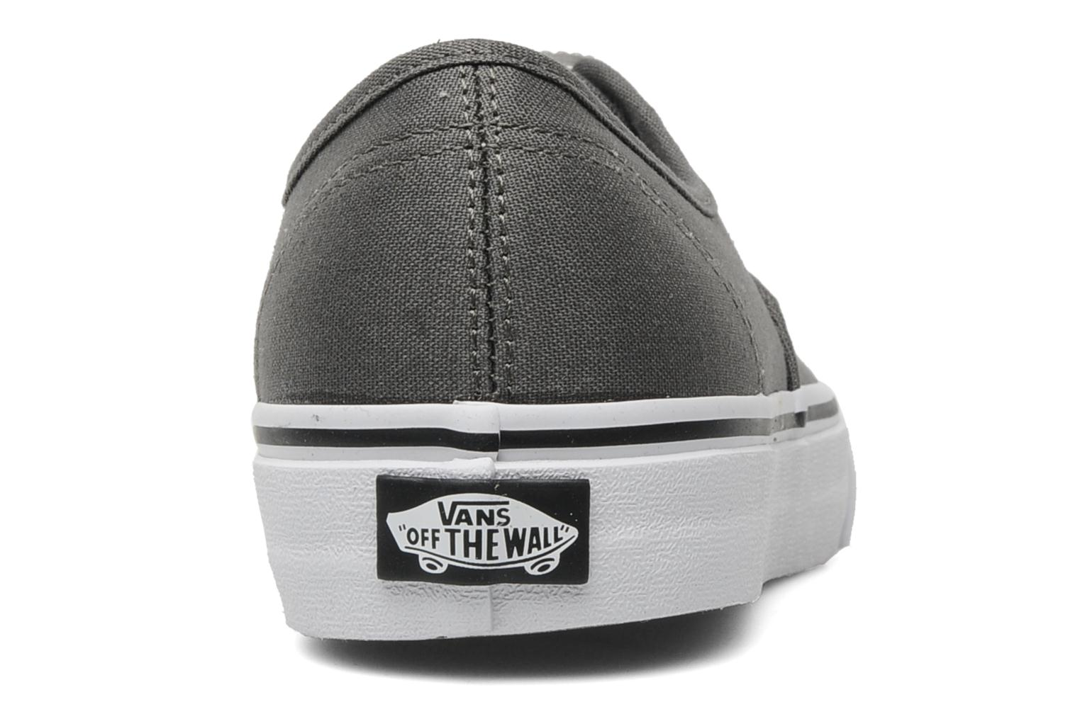 Trainers Vans Authentic w Grey view from the right