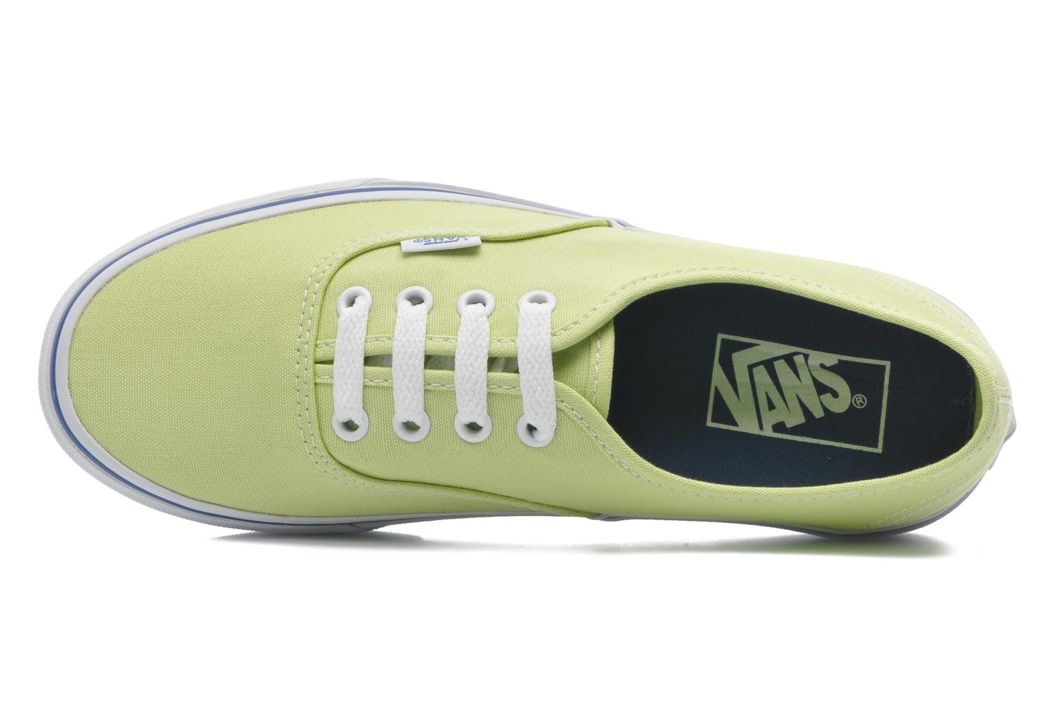 Baskets Vans Authentic w Vert vue gauche
