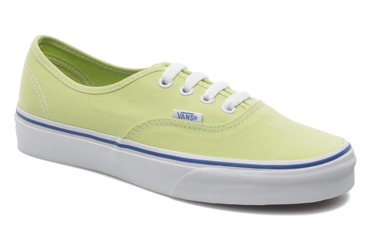 Baskets Vans Authentic w Vert vue détail/paire