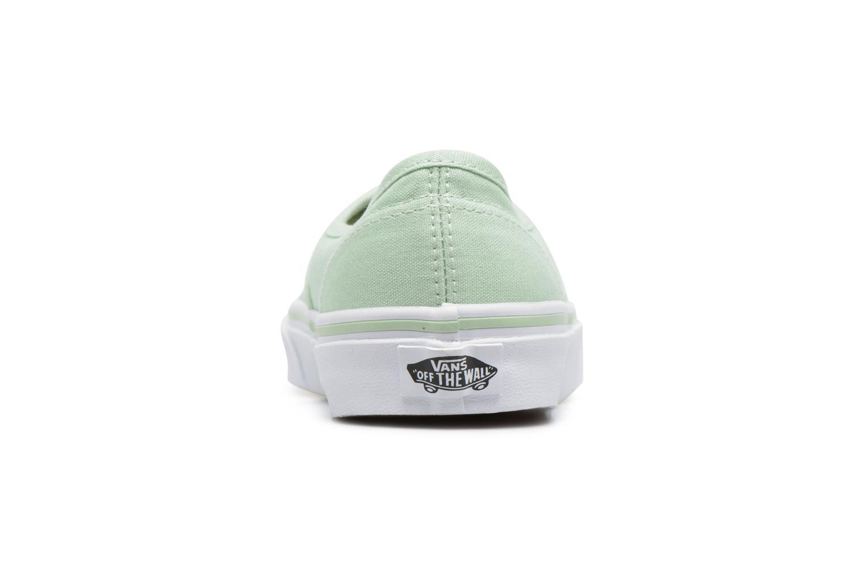 Sneaker Vans Authentic w grün ansicht von rechts