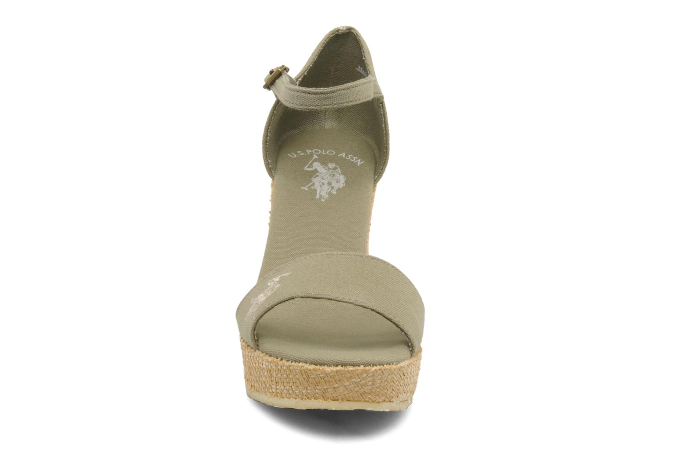 Sandales et nu-pieds U.S Polo Assn. Becky Vert vue portées chaussures