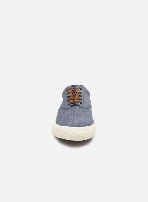 Baskets Polo Ralph Lauren Vaughn Bleu vue portées chaussures