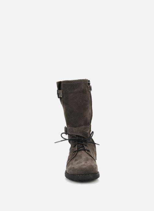 Bottes Unisa Huma Gris vue portées chaussures