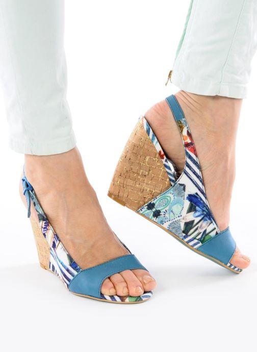 Sandalias Desigual Minoa Azul vista de abajo
