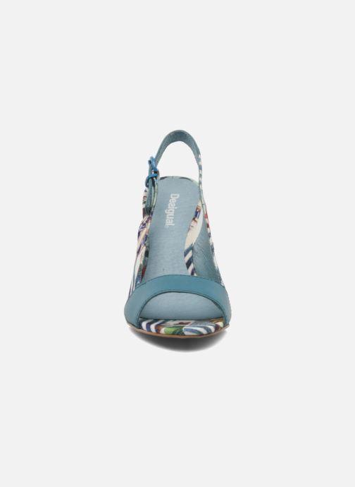 Sandales et nu-pieds Desigual Minoa Bleu vue portées chaussures