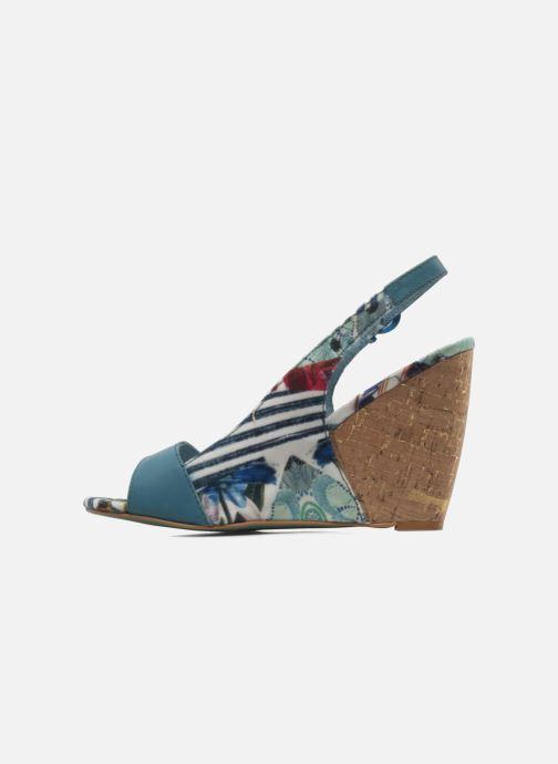 Sandalias Desigual Minoa Azul vista de frente