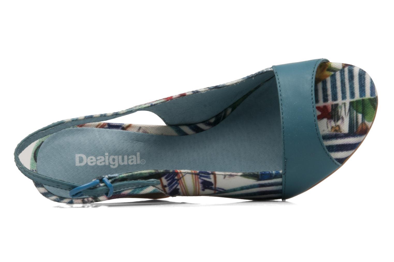 Sandales et nu-pieds Desigual Minoa Bleu vue gauche
