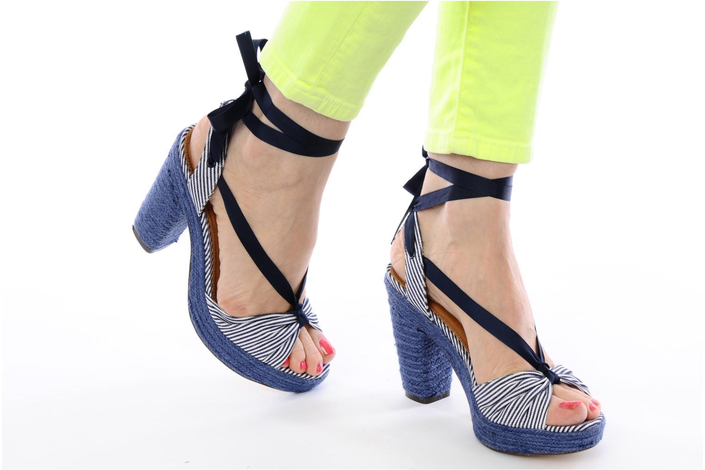 Sandales et nu-pieds Ravel JETTY Bleu vue bas / vue portée sac