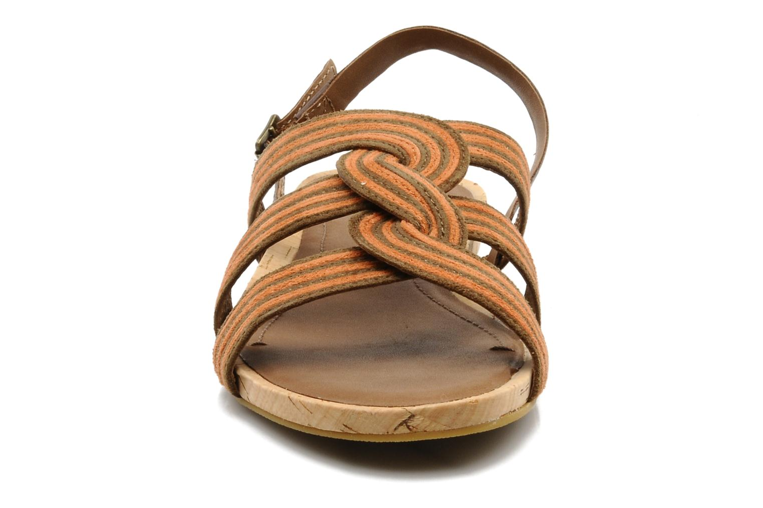 Sandals Marc O'Polo Chouquette Brown model view