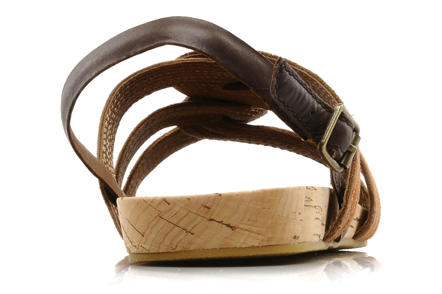 Sandals Marc O'Polo Chouquette Brown view from the right