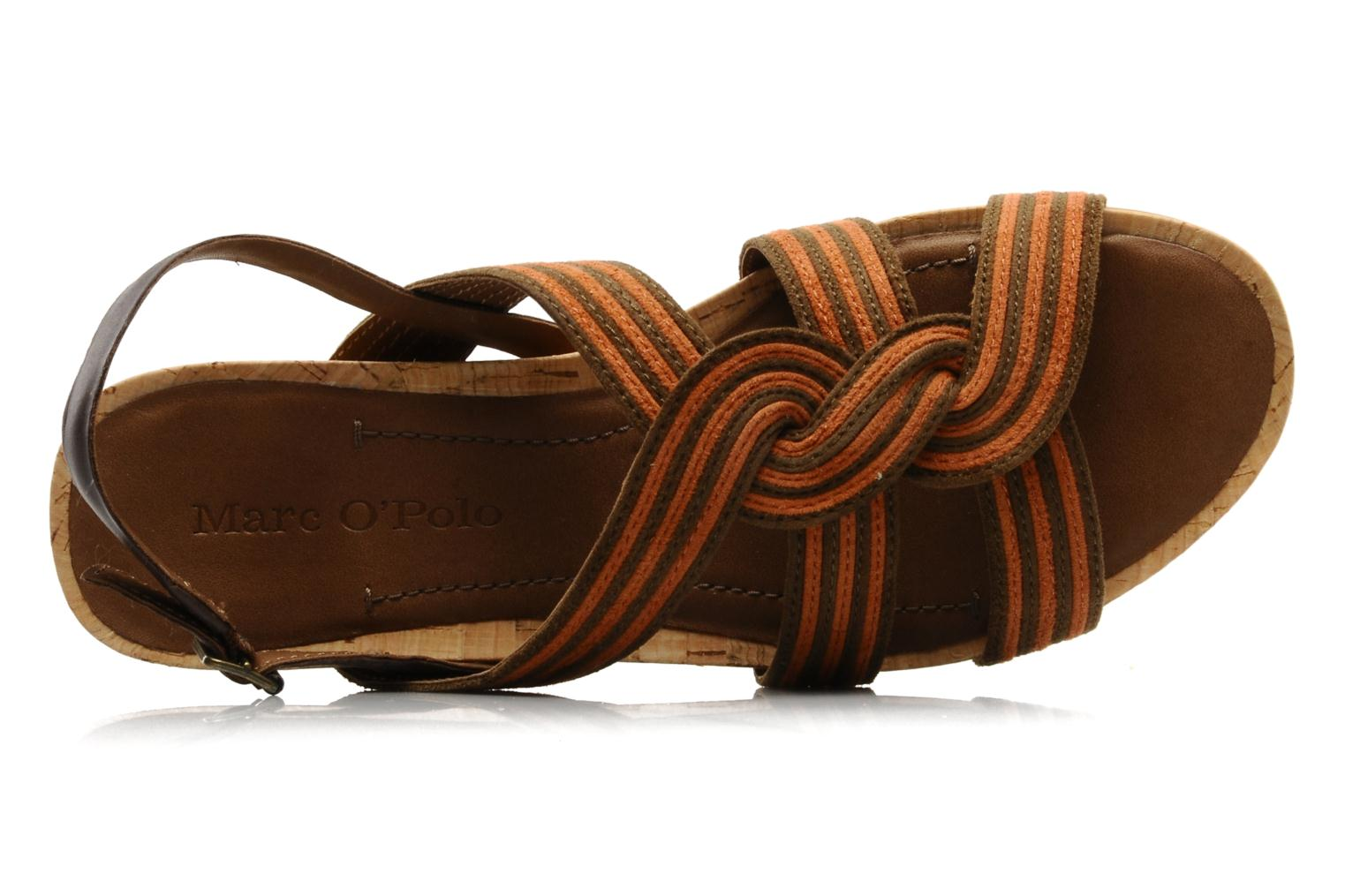 Sandals Marc O'Polo Chouquette Brown view from the left