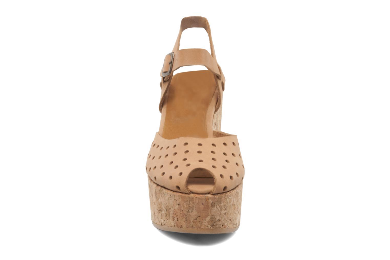 Sandales et nu-pieds Swildens Garance Beige vue portées chaussures