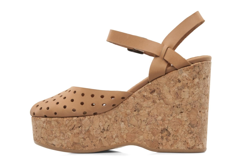 Sandales et nu-pieds Swildens Garance Beige vue face