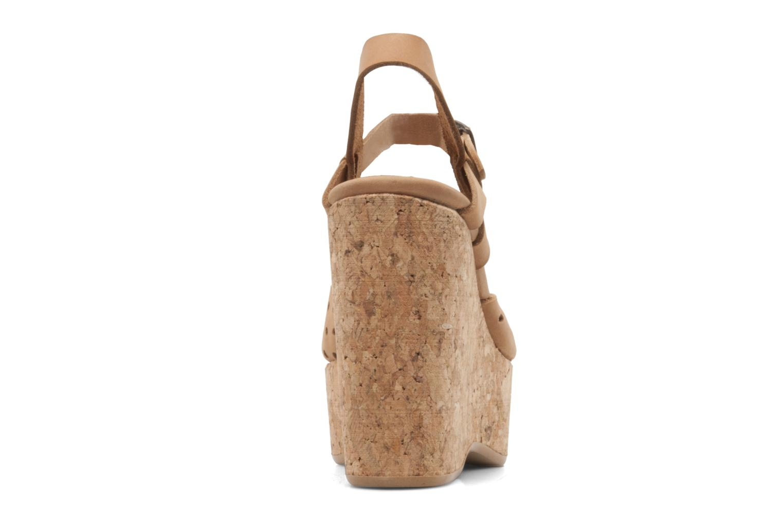 Sandales et nu-pieds Swildens Garance Beige vue droite
