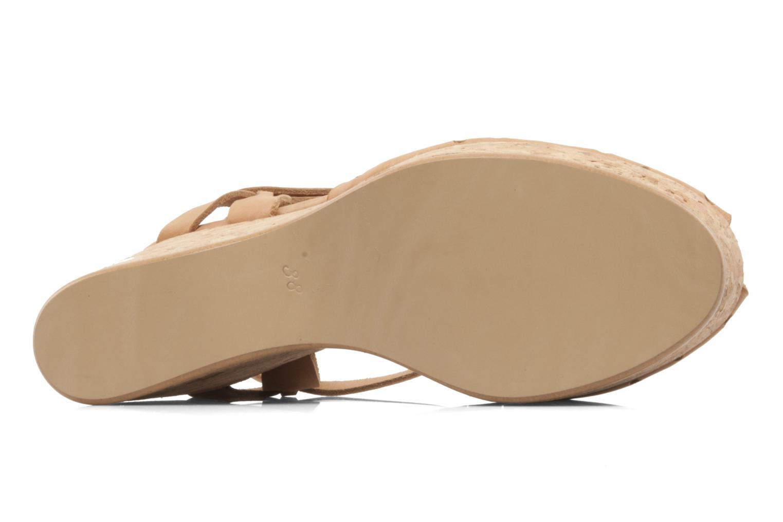 Sandales et nu-pieds Swildens Garance Beige vue haut