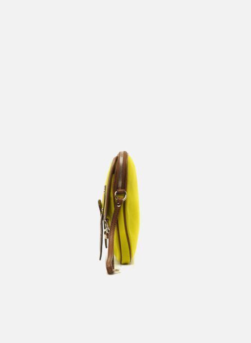 Sacs pochettes D&G ALYSSON CANVAS Jaune vue portées chaussures