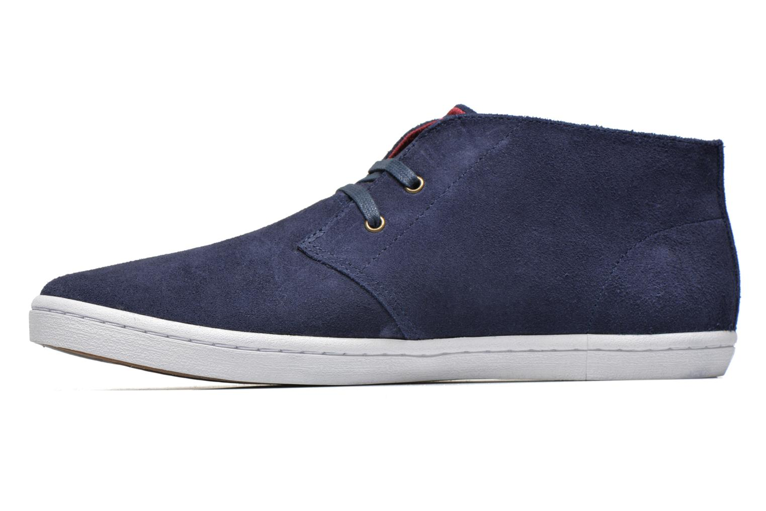 Baskets Fred Perry Byron Mid Suede Bleu vue face