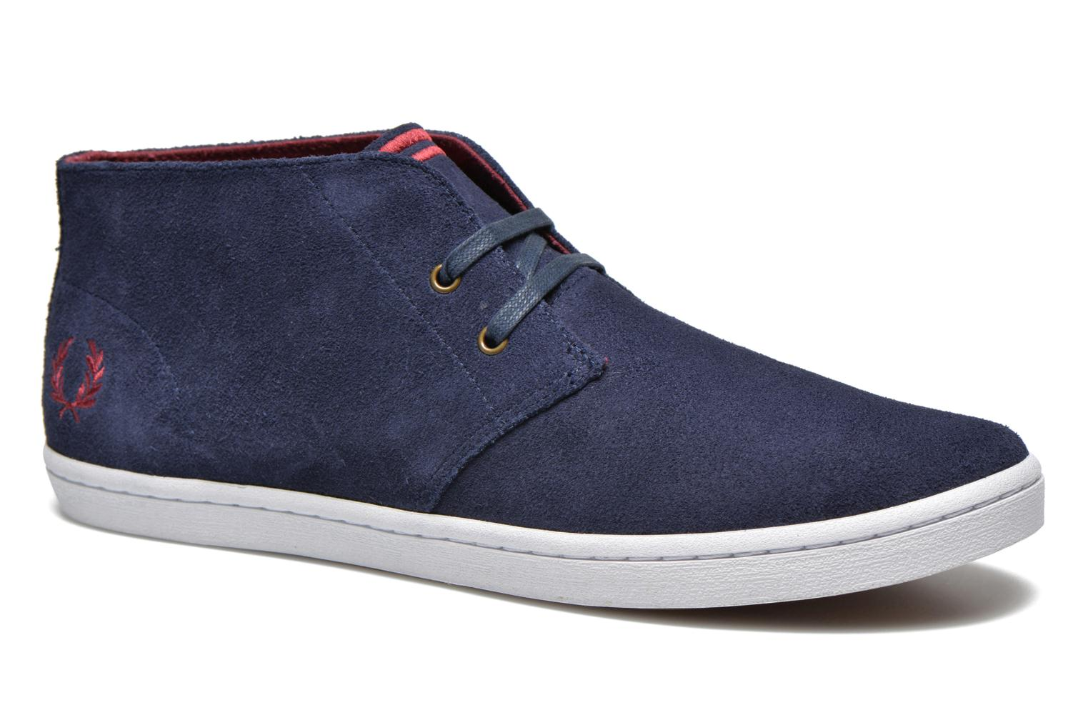 Fred Perry Byron Mid Suede (Bleu) - Baskets en Más cómodo Chaussures casual sauvages