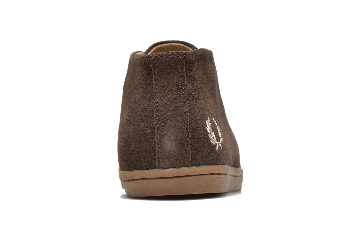 Sneakers Fred Perry Byron Mid Suede Bruin rechts