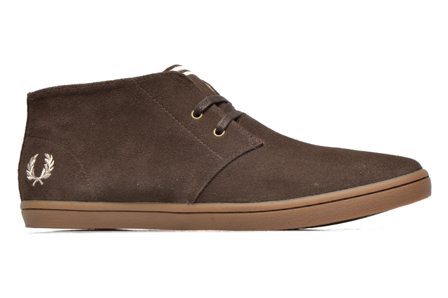 Sneakers Fred Perry Byron Mid Suede Bruin achterkant
