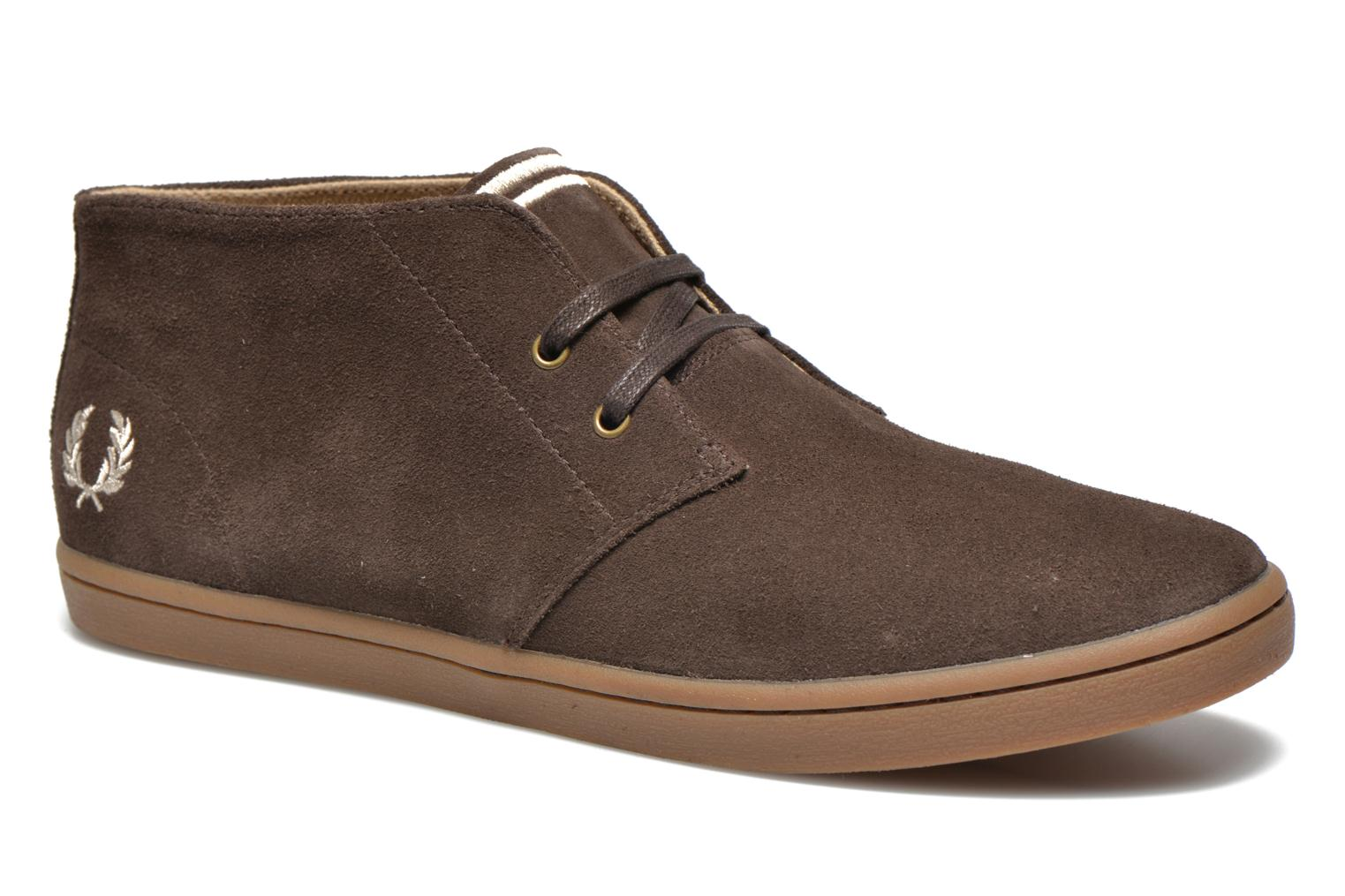 Sneakers Fred Perry Byron Mid Suede Bruin detail