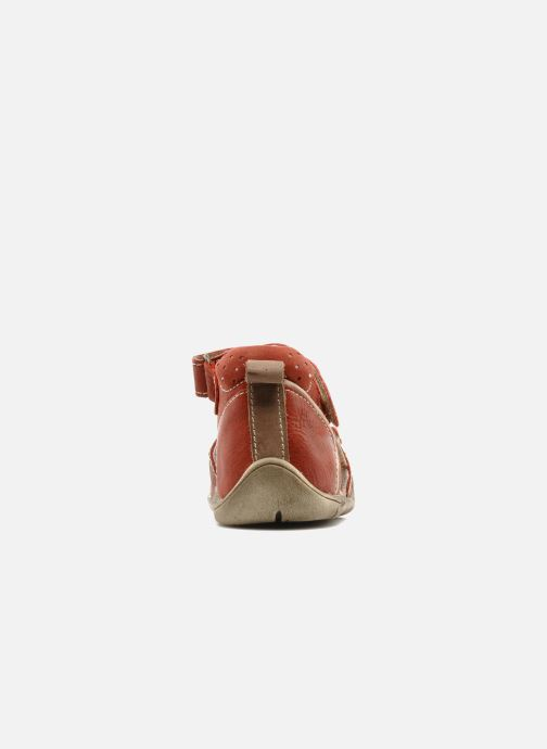 Sandals Babybotte Tedi Red view from the right