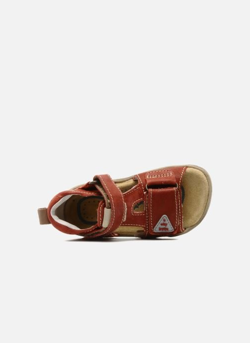 Sandals Babybotte Tedi Red view from the left