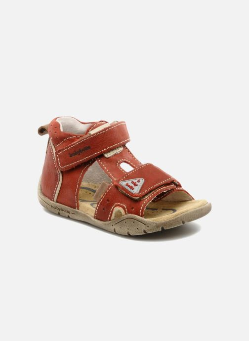 Sandals Babybotte Tedi Red detailed view/ Pair view