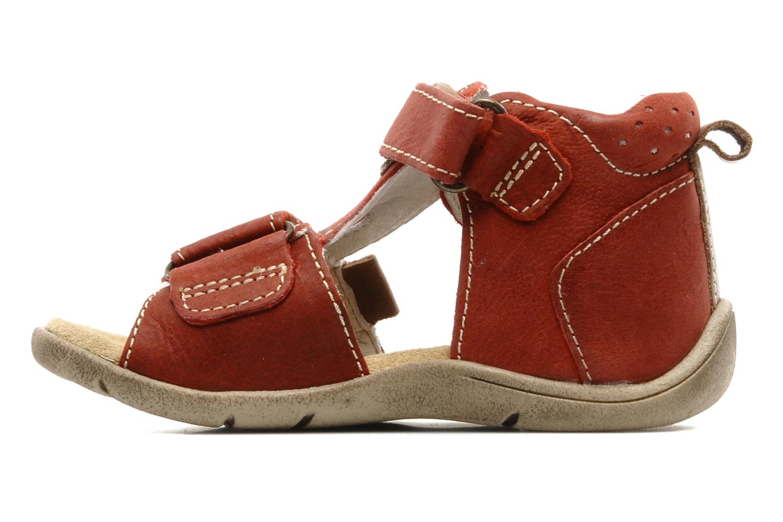 Sandalias Babybotte Tedi Rojo vista de frente